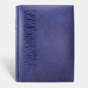 Álbum fotos papel tradicional vaqueta azul