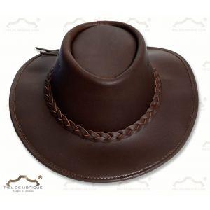 Sombrero piel engrasada tipo tejano
