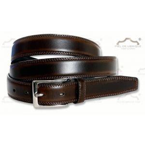 Cinturón piel hombre talla Grande XXL