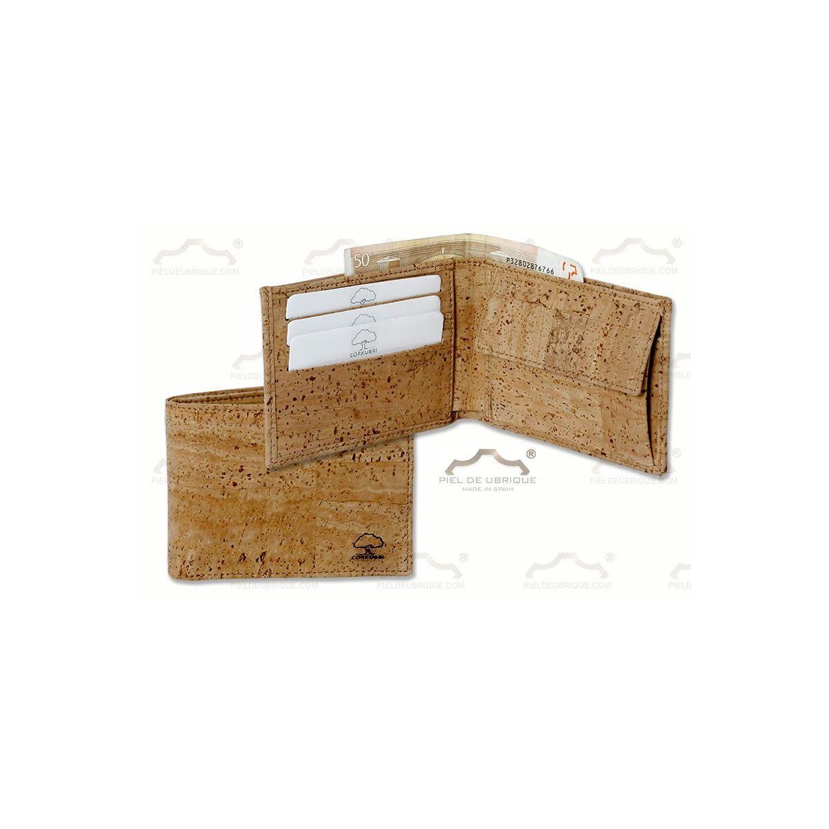 Cartera de corcho con monedero tarjeteros y billetero - Tela de corcho ...