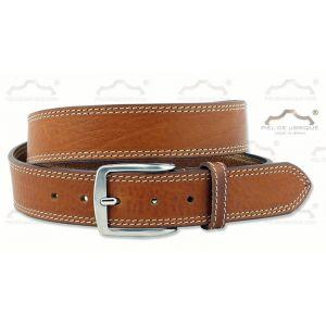 Cinturón Hombre Piel dos costuras