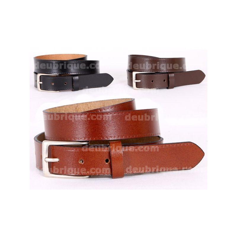 Cinturón de piel para hombre