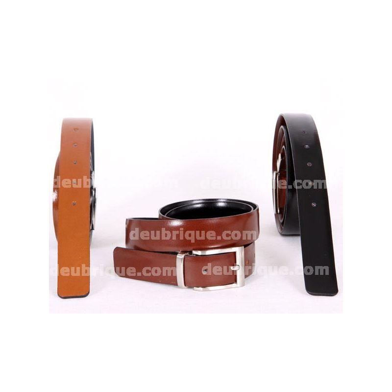 Cinturón para hombre piel reversible