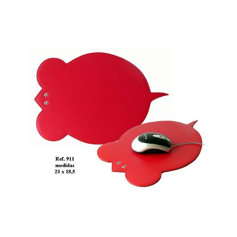 Alfombrilla ratón de simil piel