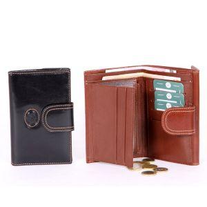 Billetera y monedero en piel para señora