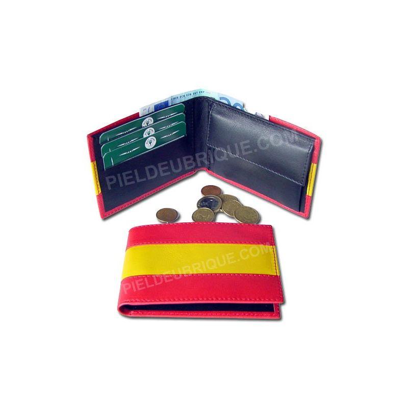 Cartera monedero bandera España