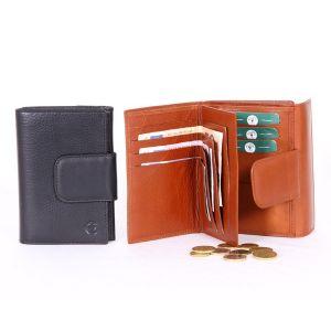 Monedero billetera, tarjetero, en piel para mujer