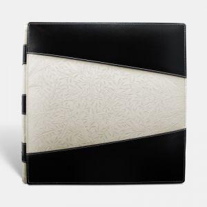 Álbum de fotos tradicional para boda, negro blanco bambú