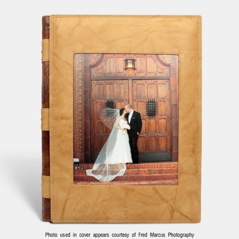 Álbum de fotos tradicional para bodas con ventana, Beig