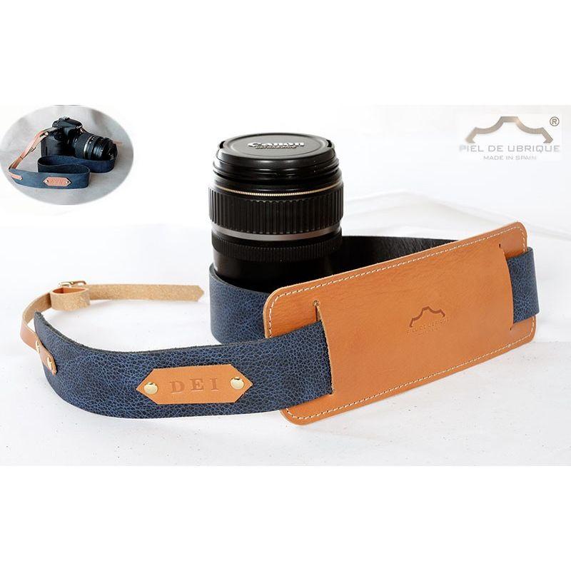 Hombrera en cuero para cámara de fotos