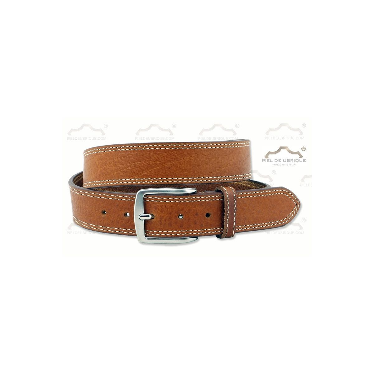 buscar el más nuevo calzado envío directo Cinturón Hombre Piel dos costuras