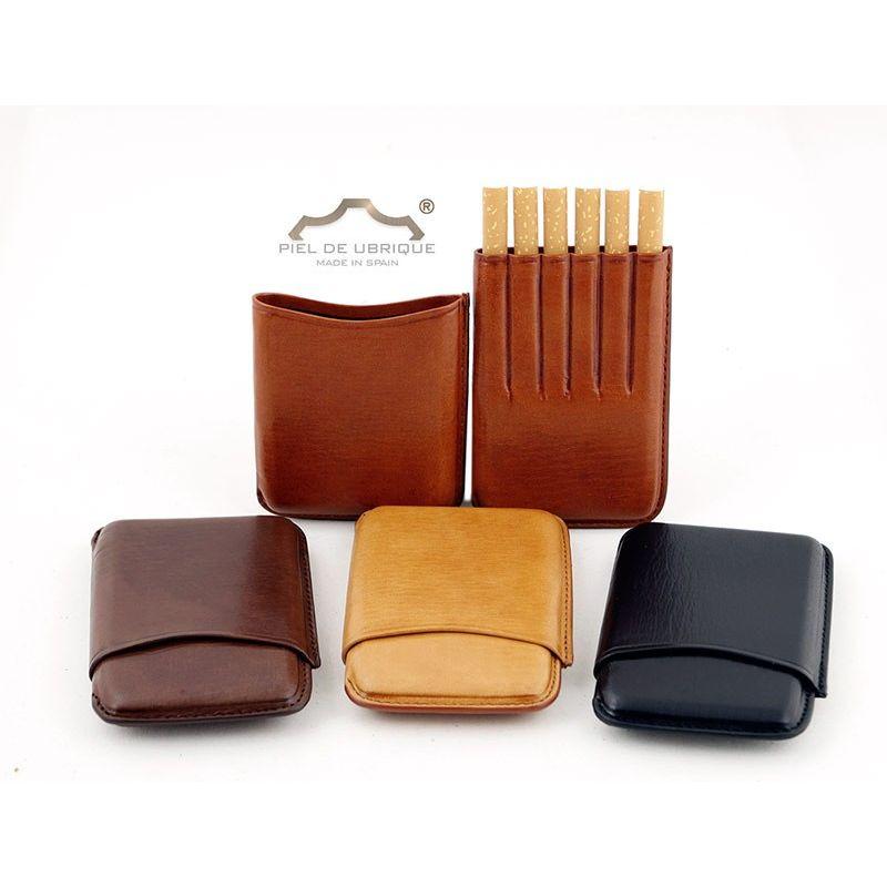 ANDERS Pitillera de piel para cigarrillos Marr/ón-2 Marr/ón - 271676