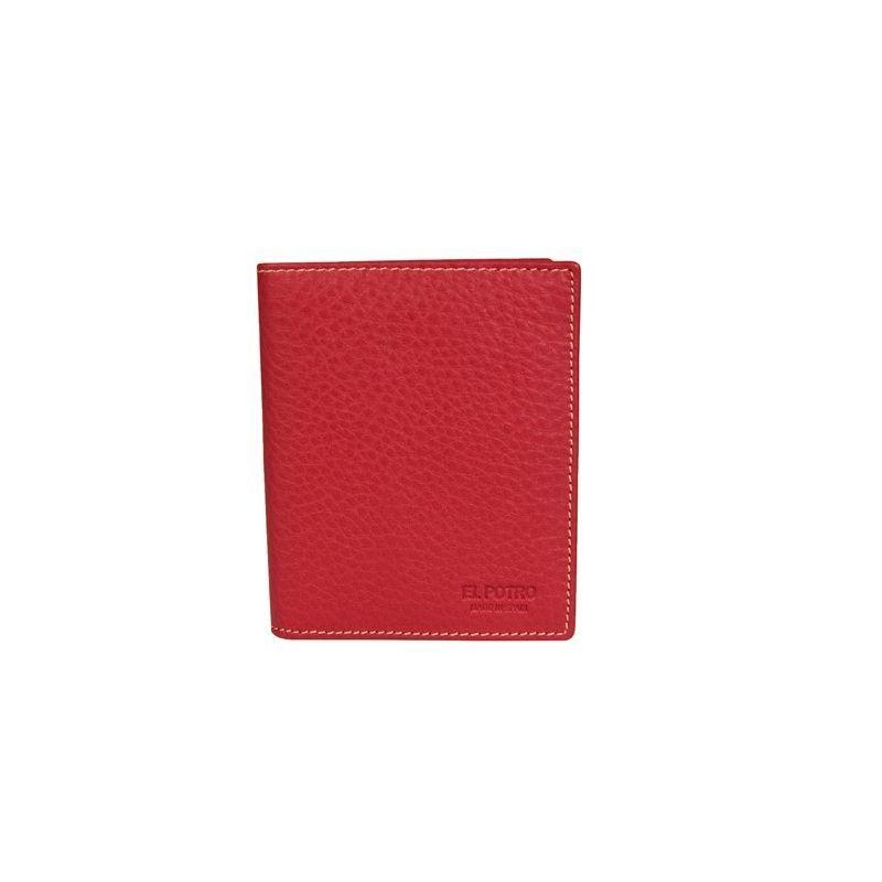 Cartera billetera piel hombre rojo urban