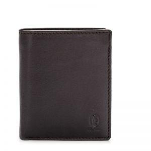 Cartera billetera piel hombre marrón roma
