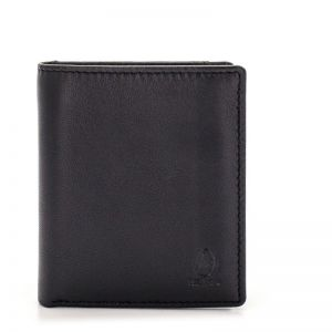 Cartera billetera piel hombre negro roma