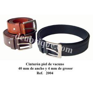 Cinturon de cuero para hombre