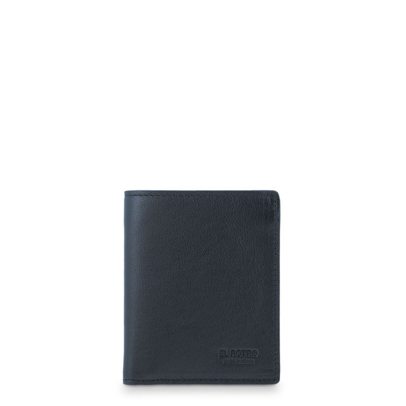 Cartera billetera piel hombre negro elegant