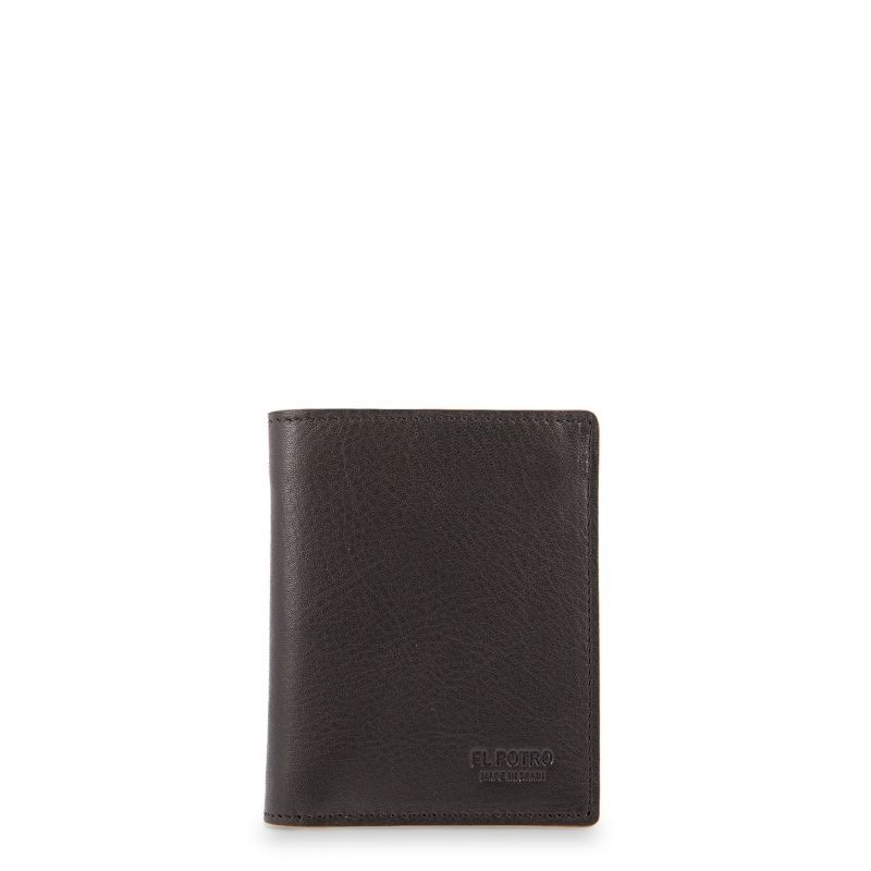 Cartera billetera piel hombre marrón elegant