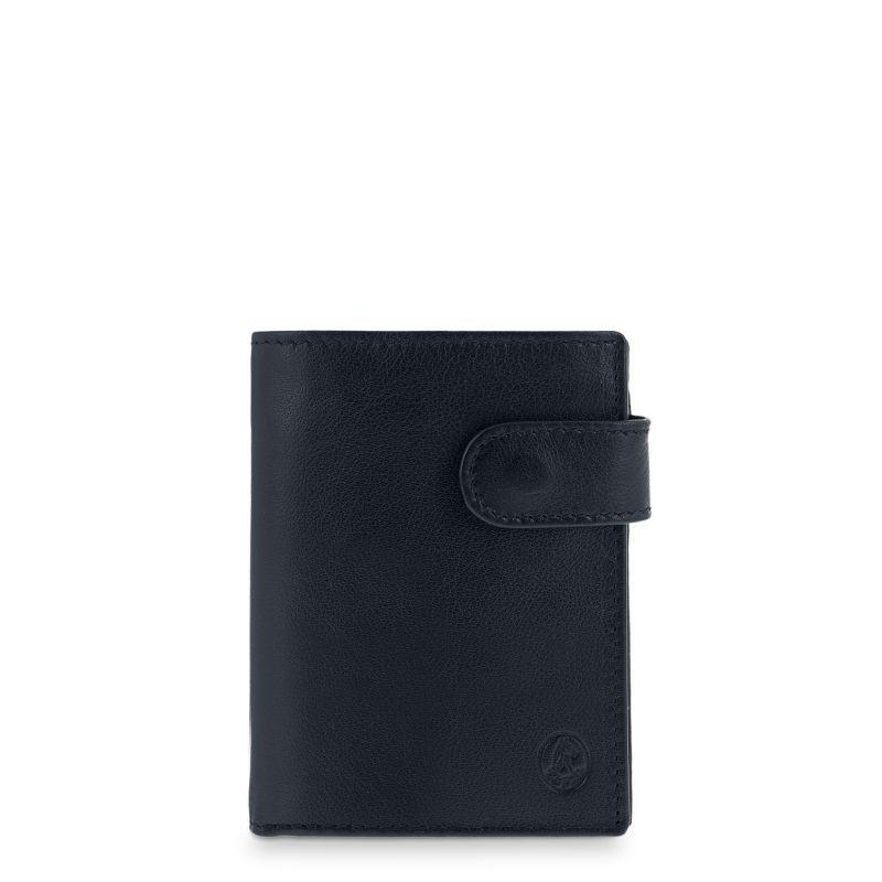 Cartera billetera piel hombre negro box