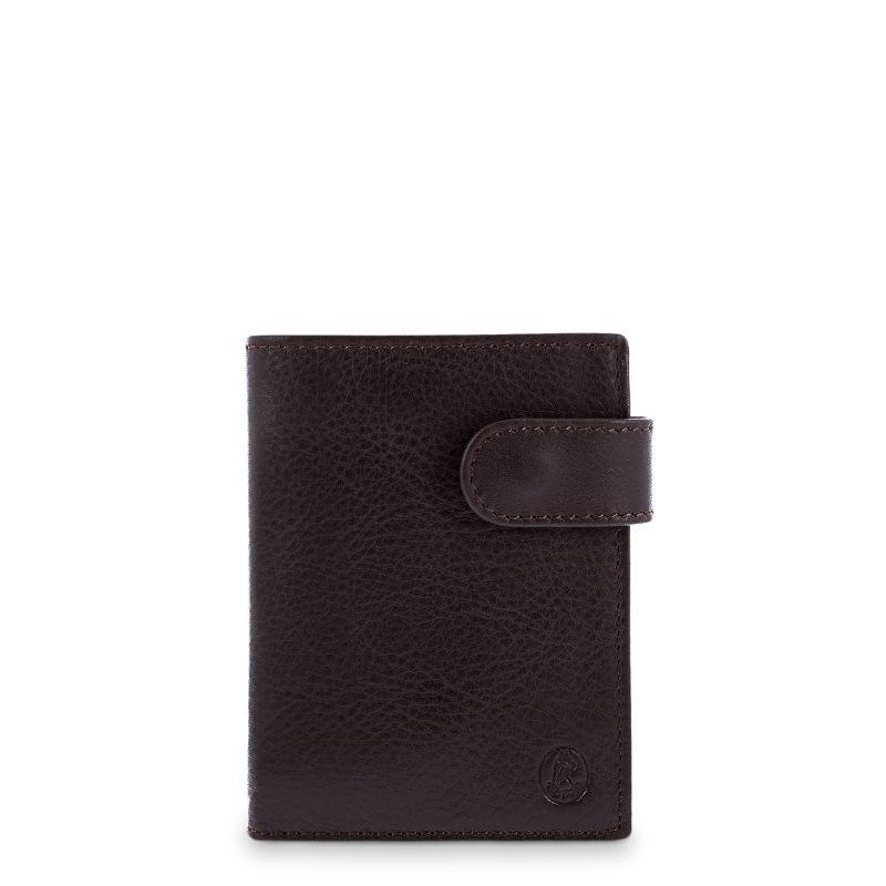 Cartera billetera piel hombre marrón box