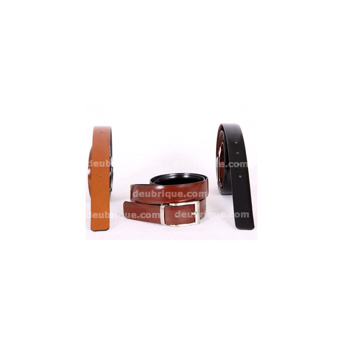 Cinturón para hombre piel reversible 872253a83710