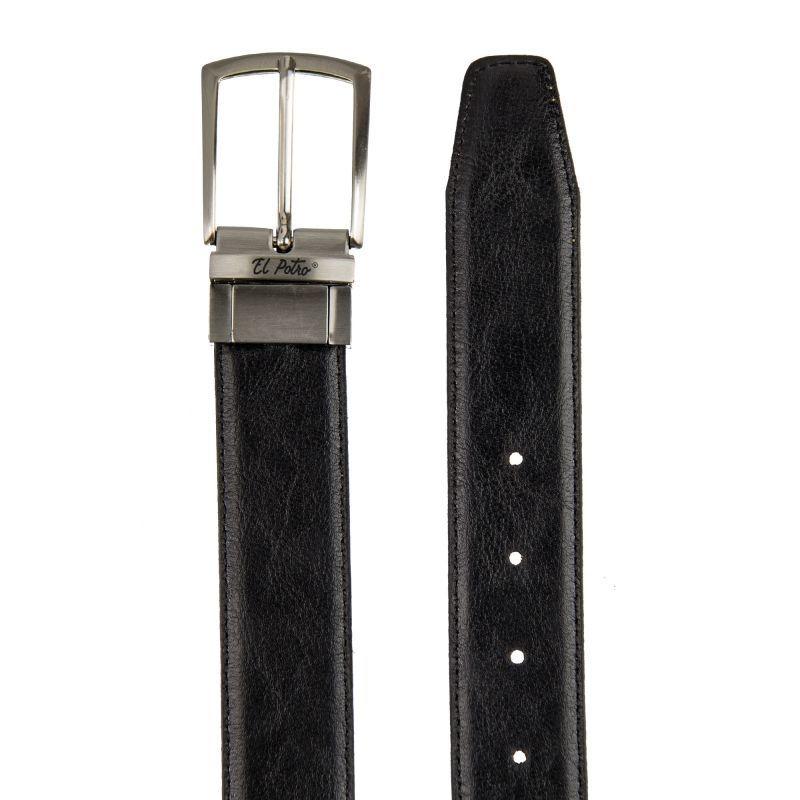 Cinturón hombre piel reversible negro/cuero box