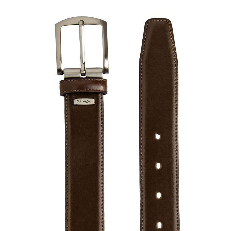 Cinturón hombre piel marrón box