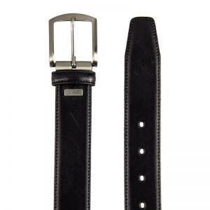 Cinturón hombre piel negro box
