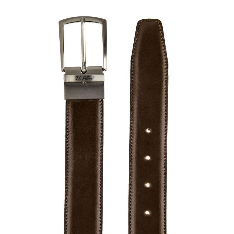 Cinturón hombre piel reversible negro/marrón box