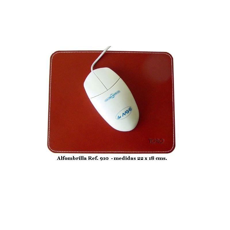 Alfombrilla ratón en cuero regenerado