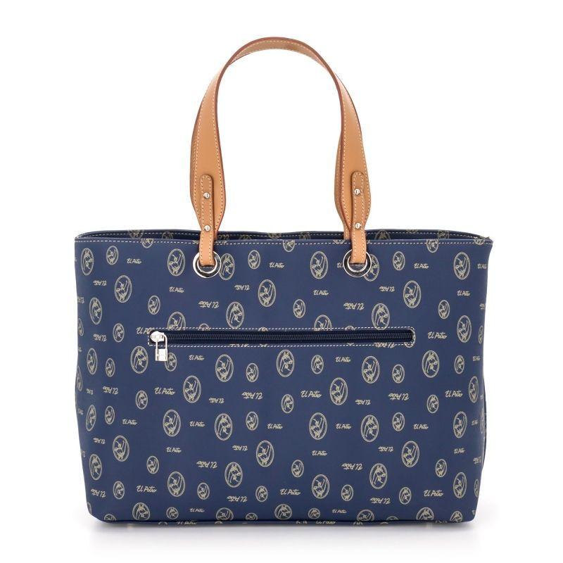 Bolso mano mujer tote azul lona