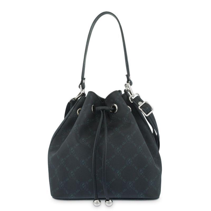 Bolso mano mujer saco negro diamond