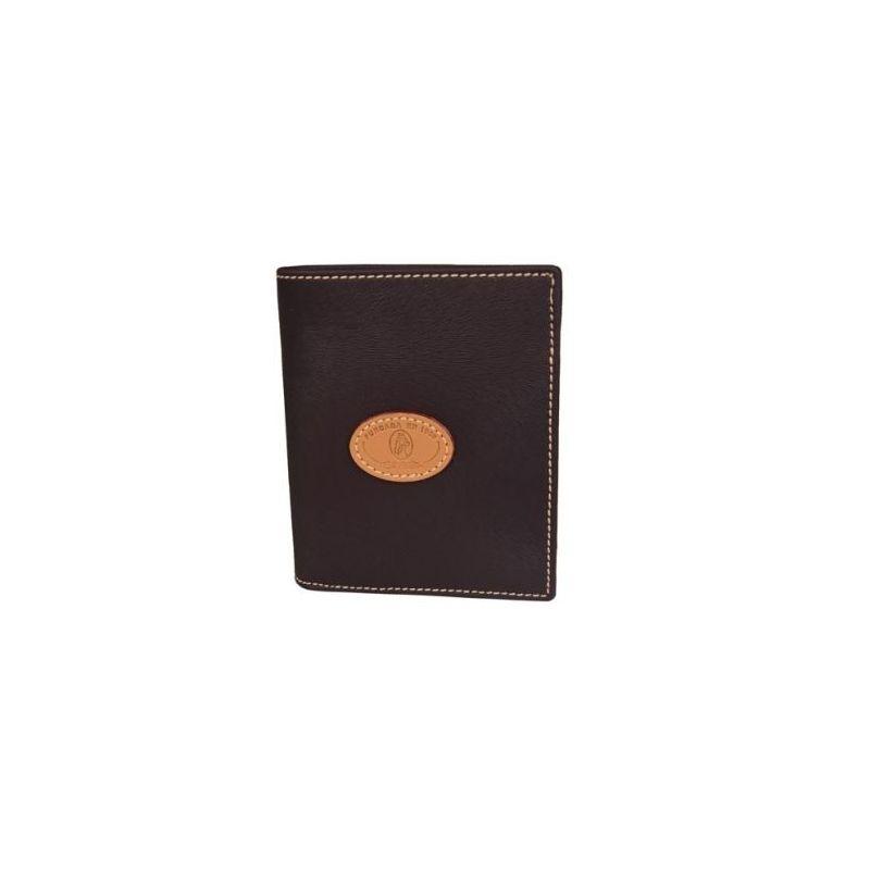 Cartera monedero lona marrón base