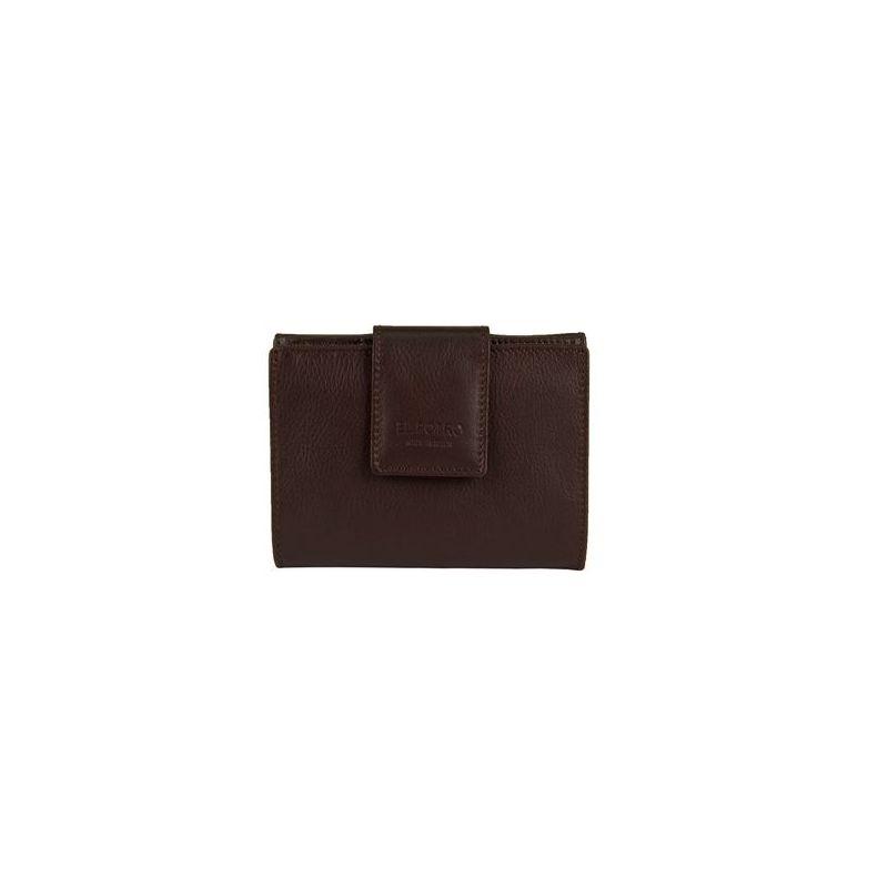 Cartera billetera piel mujer marrón milano
