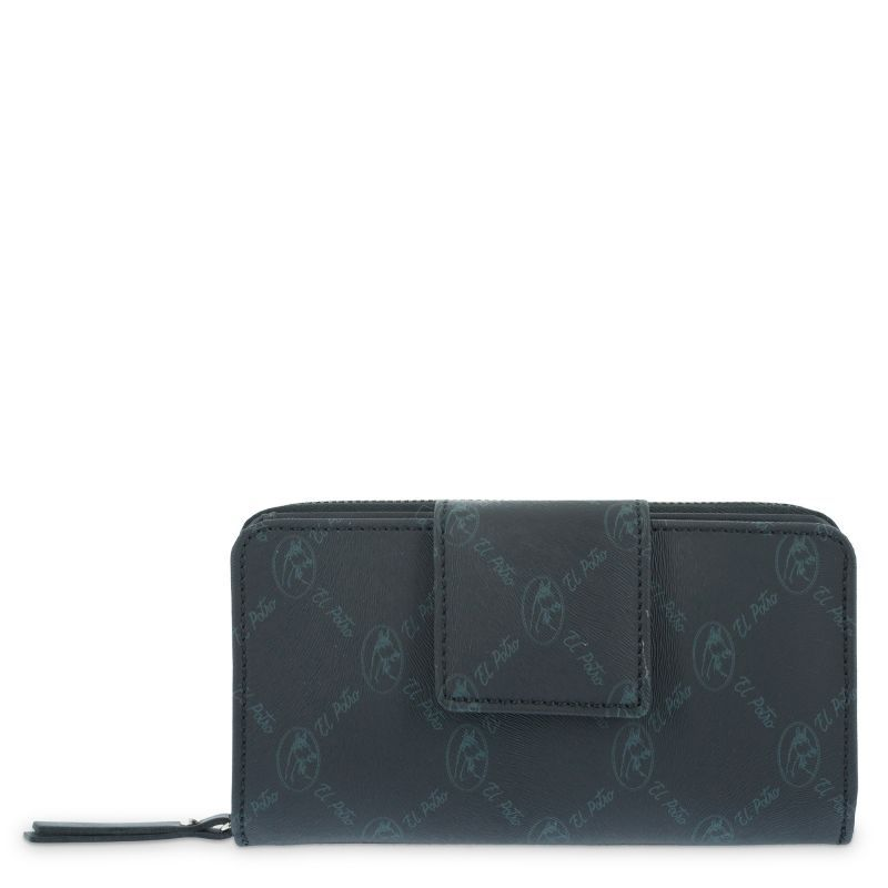 Cartera billetera mujer negro diamond