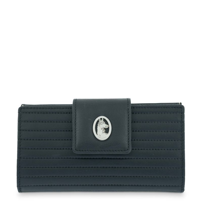 Cartera billetera piel mujer negro spring