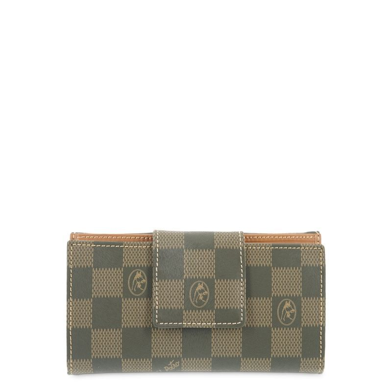 Cartera billetera mujer verde chess