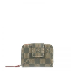 Cartera billetera mujer verde chess