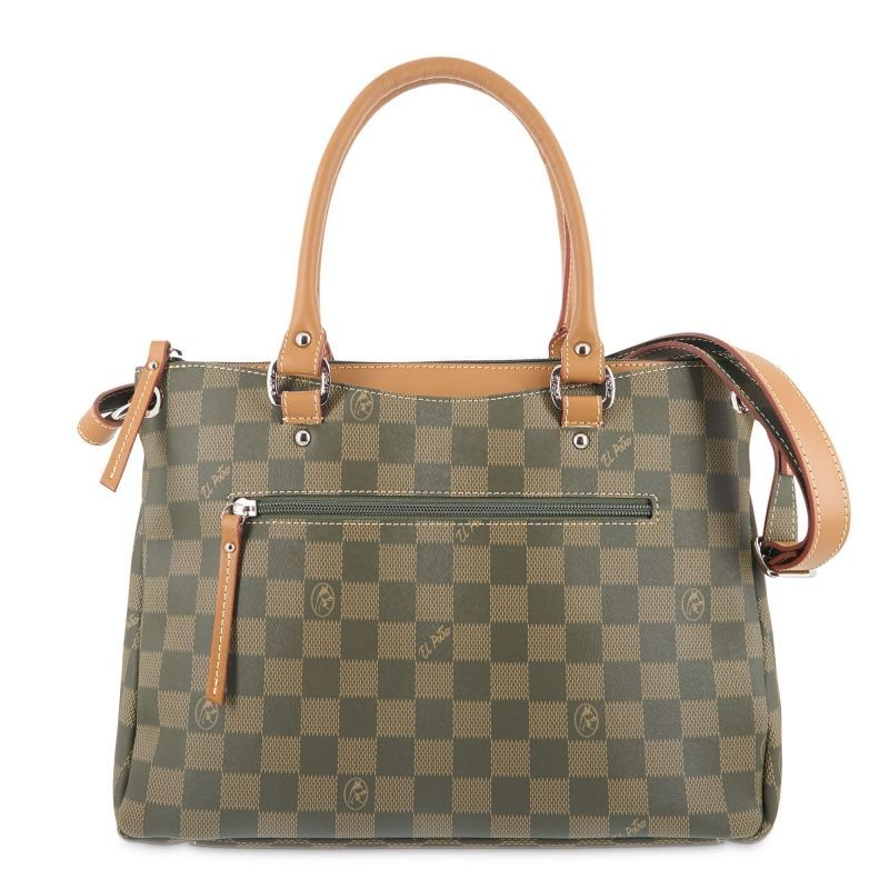 Bolso mano mujer verde chess