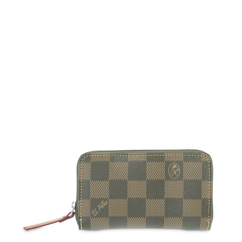 Monedero mujer verde chess