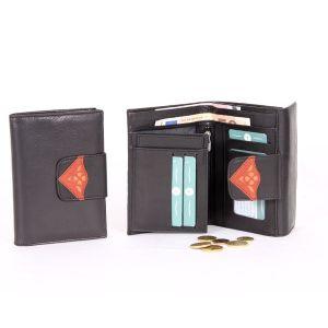 Billetera monedero de piel para mujer