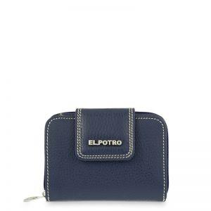 Cartera billetera piel mujer azul flouter