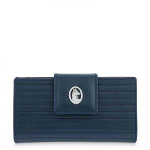 Cartera billetera piel mujer azul spring