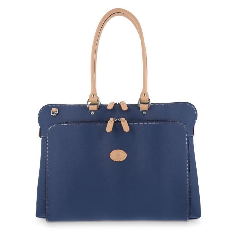 Bolso mano mujer carpeta azul base