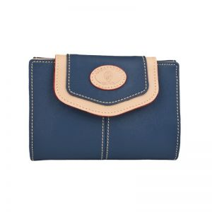 Cartera billetera lona azul base