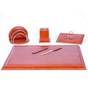 Set de escritorio, escribania, en piel de Ubrique