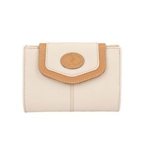 Cartera billetera lona beige base