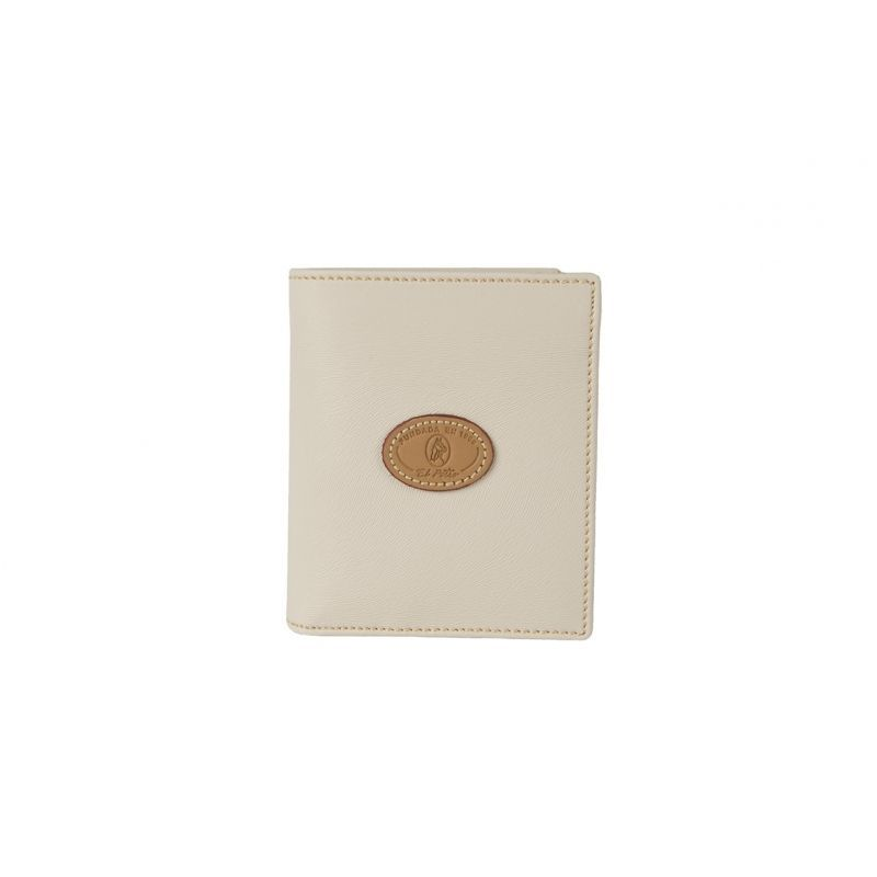Cartera monedero lona beige base
