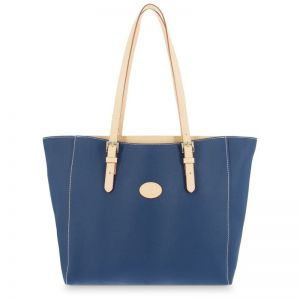 Bolso mano mujer tote azul base