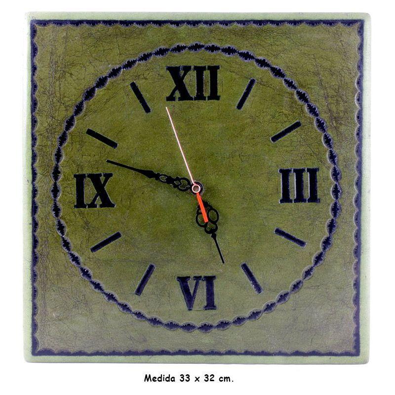 Reloj de Cuero de Pared.